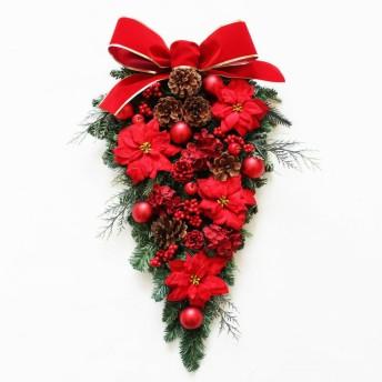 「送料無料」大きなクリスマススワッグリース 玄関飾り