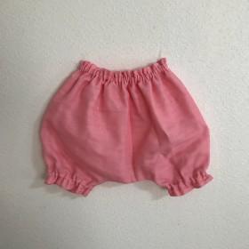 【再販】フラミンゴピンクのダブルガーゼかぼちゃパンツ