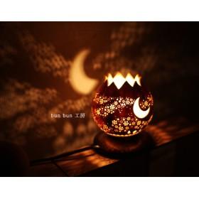 ひょうたんランプ-月夜の花吹雪-