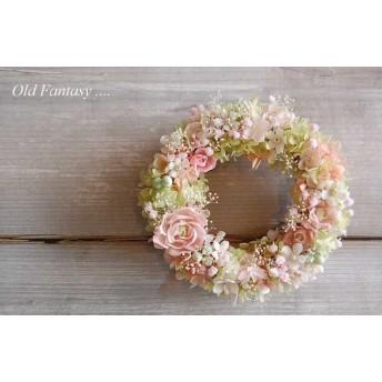『期間限定SALE20%OFF!』薔薇と紫陽花の春色リース#2