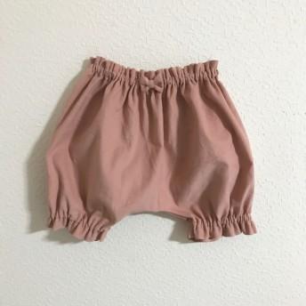 【再販】スモーキーピンクのコーデュロイかぼちゃパンツ