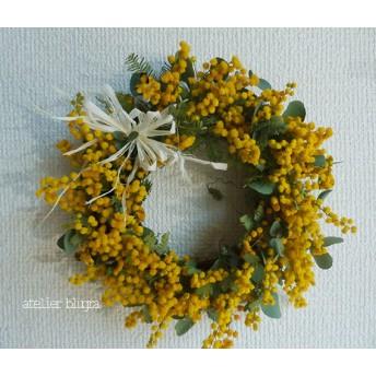 八ヶ岳〜春を告げる花ミモザアカシアのミニWreath