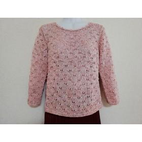 セーター・七分袖ピンク系