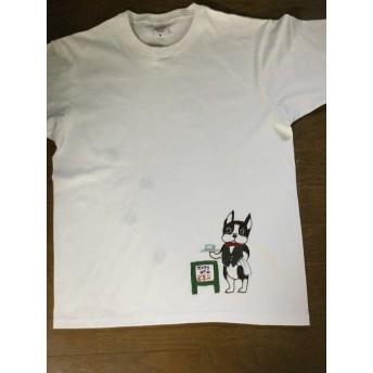 ボストンテリアの手刺繍Tシャツ9