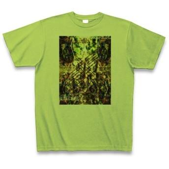 有効的異常症候群風雷◆アート文字◆ロゴ◆ヘビーウェイト◆半袖◆Tシャツ◆ライム◆各サイズ選択可