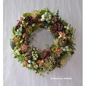 autumn green & gold:wreath
