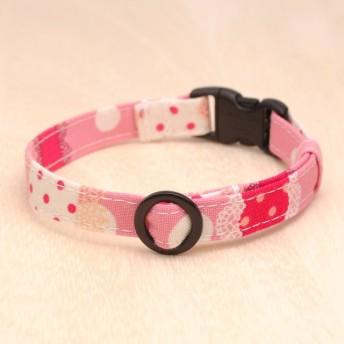 猫の首輪 水玉レース ピンク