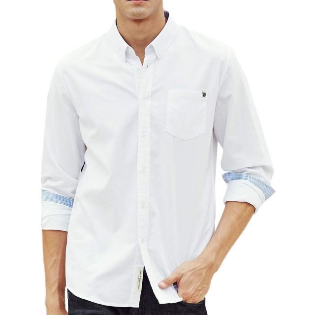 Pioneer Campメンズ オックス ボタンダウンシャツ 長袖 Yシャツ カジュアルビジネス ボタンダウン ワイシャツ AR666211 XL