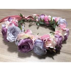 可愛い花冠 パープル系