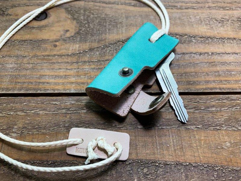 OTONA藍天綠松石藍鑰匙孔鑰匙鏈項鍊代替OKK-TWW-W