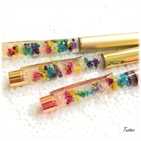 ボールペン*カラフルたっぷりかすみ草ハーバリウム