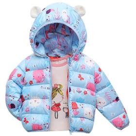 赤ちゃん 女 の子 男の子 フード付き ダウンジャケット カジュアル 漫画 パターン 防風 暖かい 軽量 子供 ダウンコート