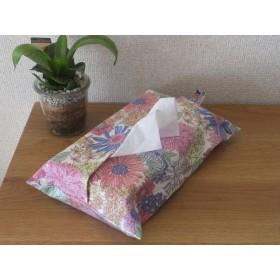 ボックスティッシュカバー pink flowers
