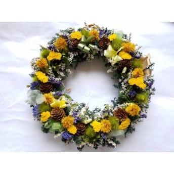 アキレアのリース!Natural driedflower wreath
