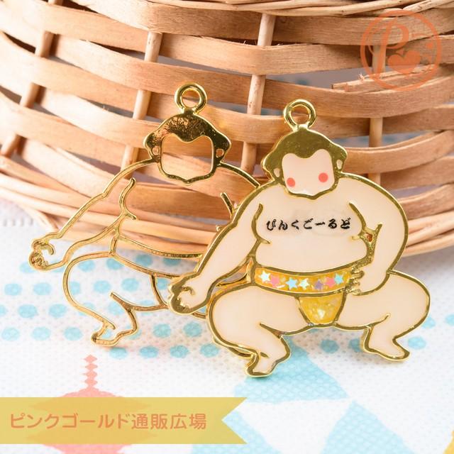 新商品★レジン枠 お相撲さん 力士 2個 力士 レジン パーツ 空枠 ハンドメイド 材料