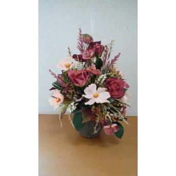 プレゼントにおすすめ!コスモスとバラのアレンジ 和室にも!