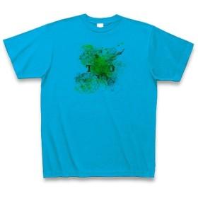 あんしんきれい◆アート文字◆ロゴ◆ヘビーウェイト◆半袖◆Tシャツ◆ターコイズ◆各サイズ選択可