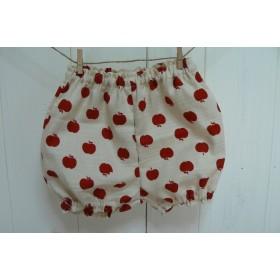 りんごちゃん柄のブルマ(バニランプリント)赤いりんご70~80