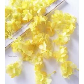 New レモンイエローの紫陽花 花びら 20枚 アーティフィシャルフラワー 造花 花材