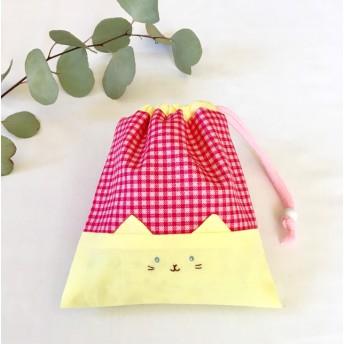 ねこちゃん巾着袋 · · ₎コップ袋にも ︎