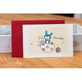 Happy Baby 001グリーティングカード