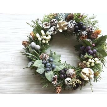green Christmas 冬のグリーンリース