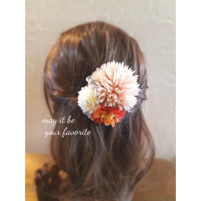 浴衣にも!☆お花の髪飾り
