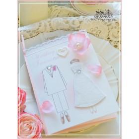 結婚式招待状【5部】春挙式に。桜と幸せな二人の招待状