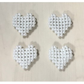 PEARL BEADS HEART PARTS