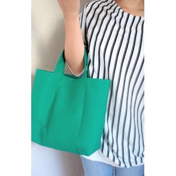 simple totebag / green 帆布 (小)