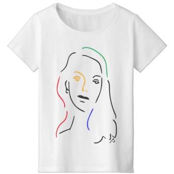 美女Tシャツ01-カラーver. (MENS/LADIES)