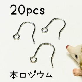 (20個10ペア)本ロジウム製フックピアス