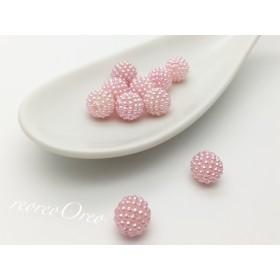 つぶつぶパールパーツ 10粒 ピンク