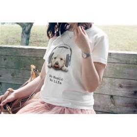 送料無料☆【ドライTシャツ】ゴールデンレトリバーの子犬だってNo Music No Life