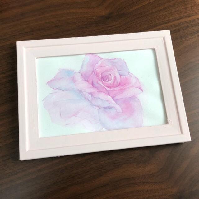 水彩原画「薔薇」