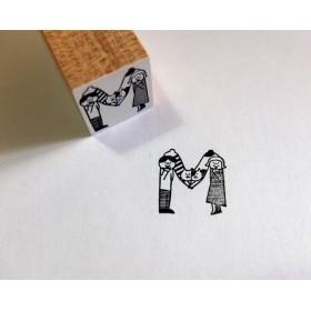 abarayam画:アルファベットはんこ『M』