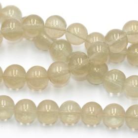 送料無料 30個 ガラス 円形 ビーズ 二色8mm BO-085-3