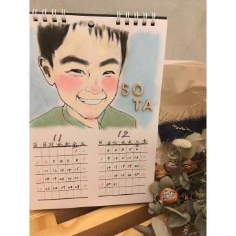 【似顔絵】【1名700円】【母の日】両親へ送ろう♪似顔絵カレンダー♪