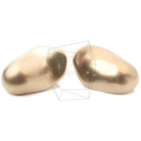 ERG-1010-MG【2個入り】カーブオーバルピアス/Curve Oval Post Earrings