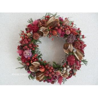 atelier blugra八ヶ岳〜ノイバラ実とウバユリのWreath