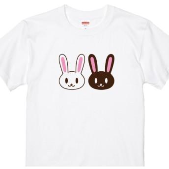 ツインうさぎTシャツ Tシャツカラー全3色 各種サイズございます