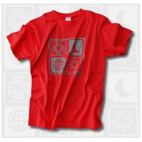 幸せを呼ぶユニバース Tシャツ 赤 受注製作 XS~XL 5サイズ