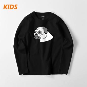 【キッズ】不機嫌なパグのロングTシャツ