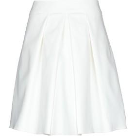 《期間限定セール開催中!》PATRIZIA PEPE レディース ひざ丈スカート ホワイト 38 コットン 49% / ポリエステル 48% / ポリウレタン 3%