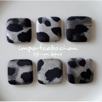 import cabochon leopard gray 25mm 6pcs