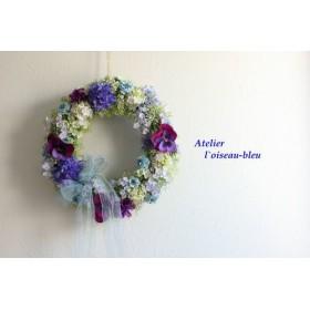 viola~ビオラと小花のリース