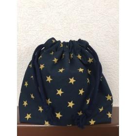 紺色星柄☆コップ袋☆スター