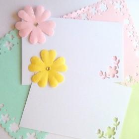 ふんわりお花のかわいいミニカード☆メッセージカード サンキューカード サンキュータグ よせがき 一言メッセージ アルバム