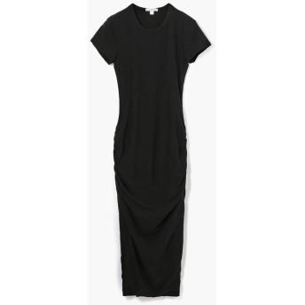 トゥモローランド ストレッチジャージー クルーネックドレス WJE6035 レディース 19ブラック 3(LL) 【TOMORROWLAND】