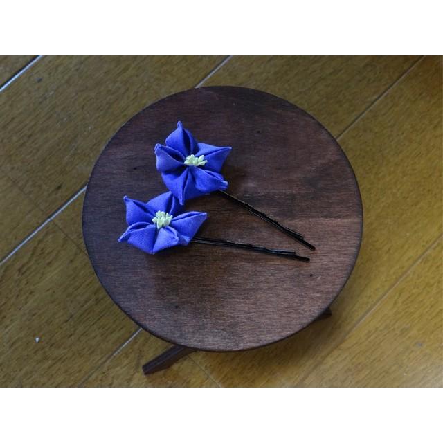 ★再販受付中★つまみ細工 桔梗の花ヘアピン